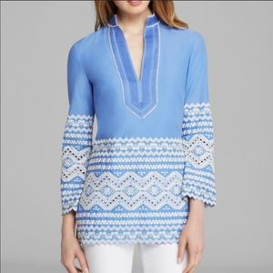 {TORY BIRCH} Zita Embroidered Tunic Top